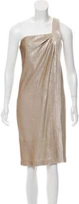 Halston Sequin Knee-Length Dress
