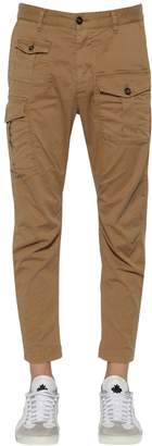DSQUARED2 16cm Boxer Cotton Canvas Cargo Pants