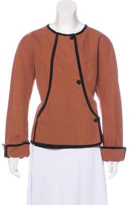 Giorgio Armani Button-Up Wrap Front Jacket
