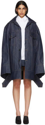 Matthew Adams Dolan Indigo Denim Falling Cuff Jacket