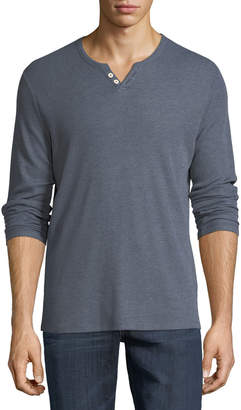 Joe's Jeans Wintz Long-Sleeve Henley, Blue-Gray