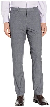 Perry Ellis Portfolio Slim-Fit Subtle Plaid Dress Pants