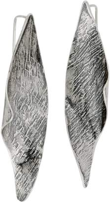Or Paz Sterling Elongated Sculpted Earrings