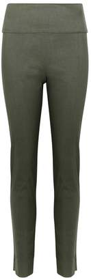 Crea Concept Army Green Linen-blend Trousers