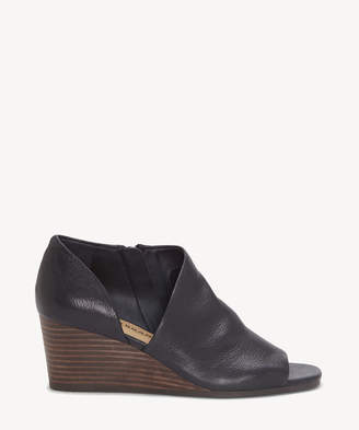 Lucky Brand Women's Tylera Wedges Bootie Black Size 5 Leather From Sole Society