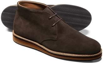 Charles Tyrwhitt Chocolate Suede Lightweight Chukka Boot Size 14