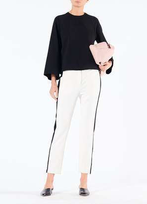 Tibi Structured Crepe Bell Sleeve Top