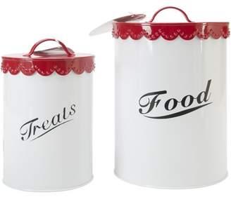 Kreinik Food & Treat Canister Set, Red