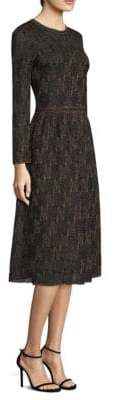 M Missoni Abito Gold Lurex A-Line Dress