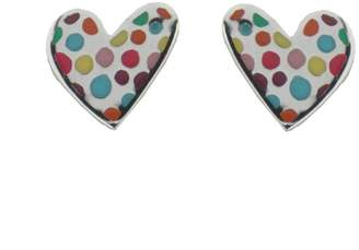 Prada Agatha Ruiz de la Sterling Silver heart multicolor enemel post earrings.This product is only for teenagers 13 and older. Do not use with younger children