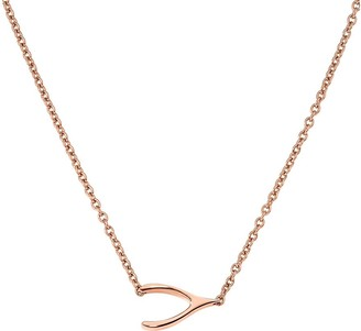 Steel By Design Steel by Design Polished Wishbone Necklace