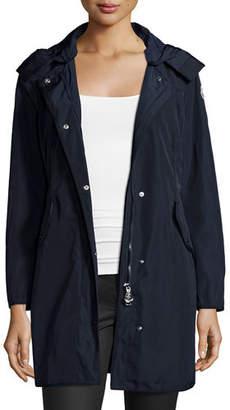 Moncler Argeline Long-Sleeve Zip-Front Coat