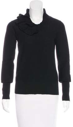 Sonia Rykiel Virgin Wool Ruffled Sweater