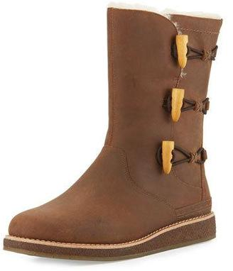 UGG Kaya Toggle Leather Boot, Chocolate $200 thestylecure.com
