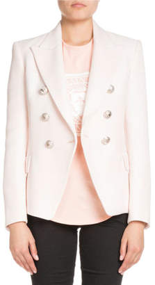 Balmain Classic Double-Breasted Woven Blazer