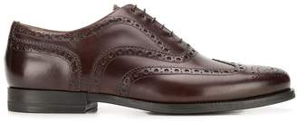 Santoni leather brogues