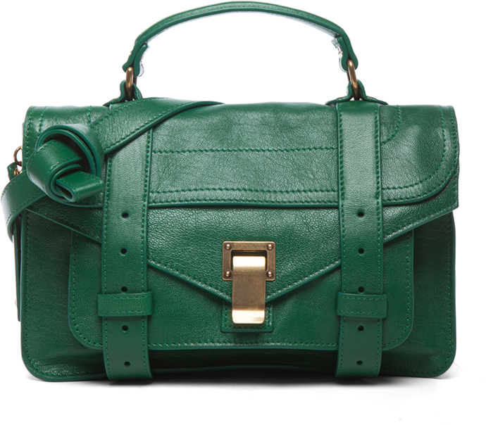Proenza Schouler Tiny PS1 Leather in Watermelon