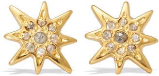 Chan Luu Gold-plated Diamond Earrings
