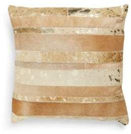 Safavieh Leather & Sequin Throw Pillow