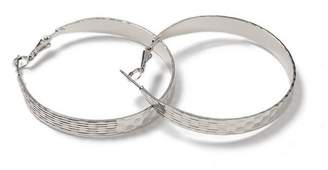 Miss Selfridge Beaten hoop earrings