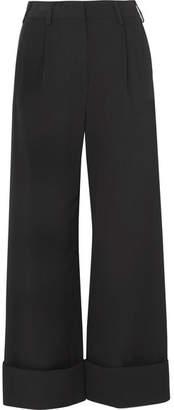 MM6 MAISON MARGIELA Faille Wide-leg Pants - Black