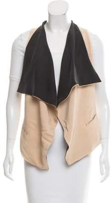 Robert Rodriguez Silk Open Front Vest