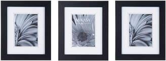 Mikasa Set of 3 5 x 7 Black Wood Frames