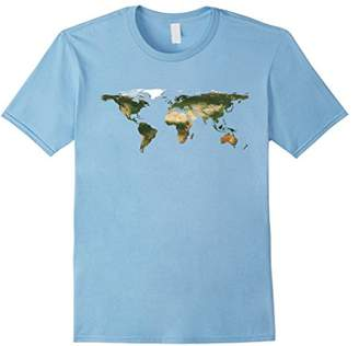 Planet Earth World Map T-Shirt