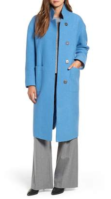 HiSO Raw Edge Boiled Wool Coat