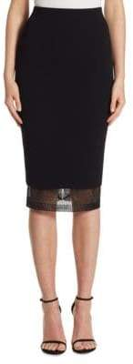 Victoria Beckham Lace Pencil Skirt