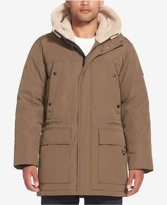 Sean John Men Long Hooded Bomber Jacket