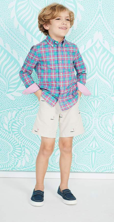 Boys' Carnegie Regular Fit Shirt in Plaid