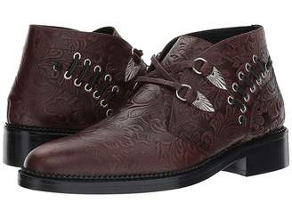Toga Virilis Embossed Leather Western Buckle Boot Men's Dress Pull-on Boots