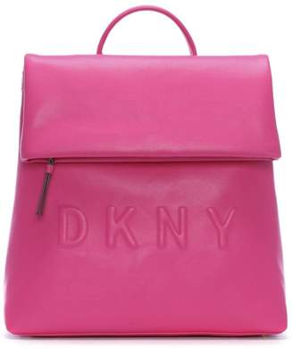 DKNY Tilly Wildberry Leather Logo Backpack 4244f1ff2529f