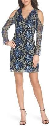 Sam Edelman Floral Embroidered Cold Shoulder Dress