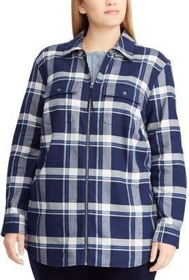 Chaps Plus Size Plaid Flannel Jacket