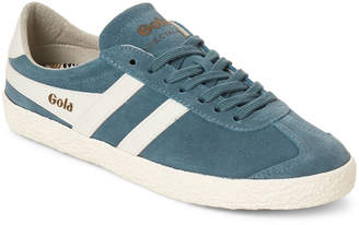 Gola Indian Teal & Off-White Specialist Suede Low-Top Sneakers