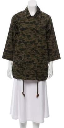 Rebecca Minkoff Embellished Camouflage Jacket