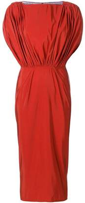 Maticevski gathered panel fitted dress