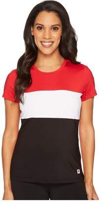 Fila Heritage Tennis Cap Sleeve Top Women's Short Sleeve Pullover