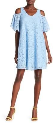 Nanette Lepore NANETTE Caped Lace Shift Dress