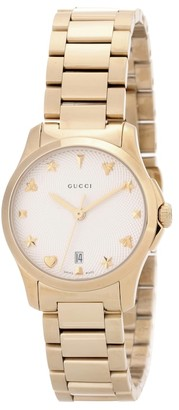 Gucci G-Timeless Small gold-plated stainless steel watch