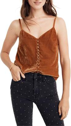 Madewell Button Down Velvet Camisole