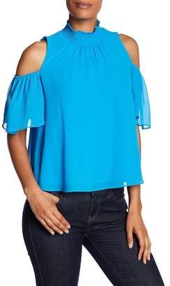 Rachel Roy Cold Shoulder Smock Shirt