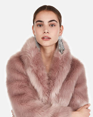 Express Long Faux Fur Coat