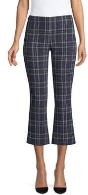 Bailey 44 Campus Plaid Cropped Bell Pants