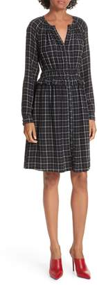 Rebecca Taylor Plaid Silk A-Line Dress