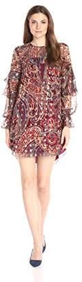 Haute Hippie Women's Kennedy Ruffle Dress, Metallic, S