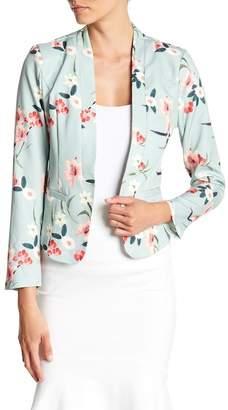 Aiden Cropped Floral Print Blazer