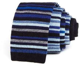 Paul Smith Multi-Striped Wool Skinny Tie